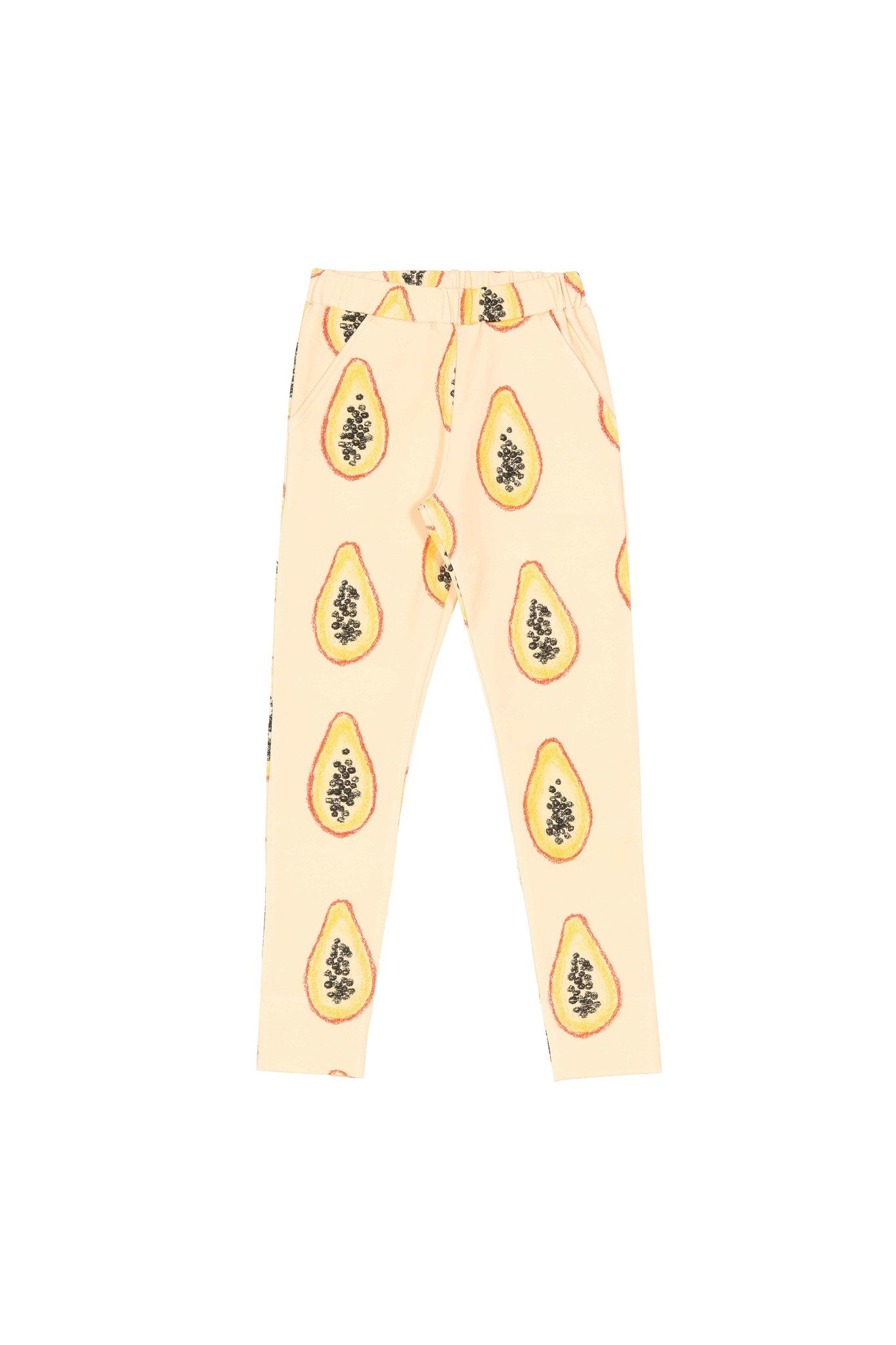 "Kids Chinos ""Papaya"" yellow-colored"