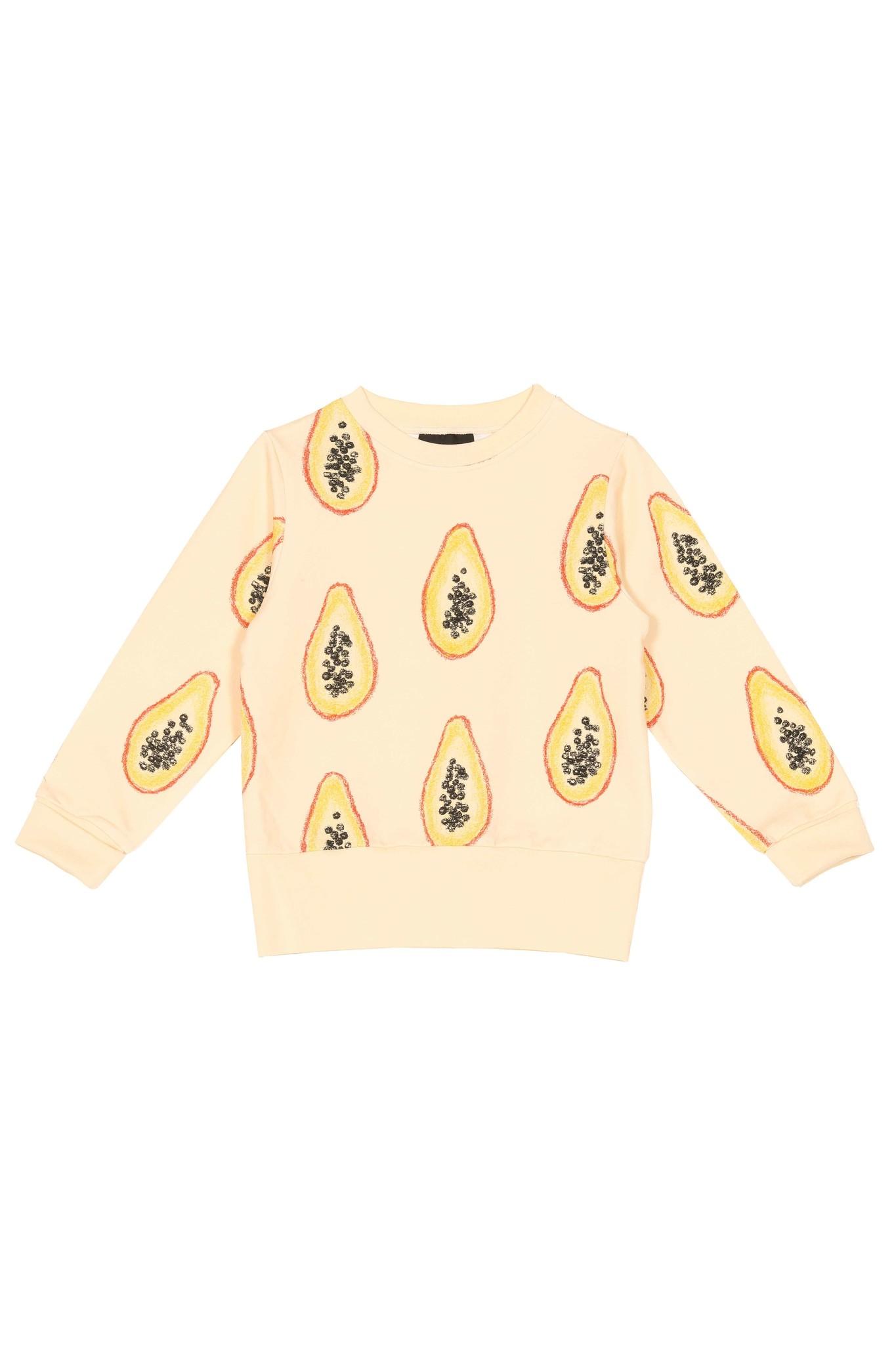 """Kinder Sweater """"Papaya"""" gelbfarben"""