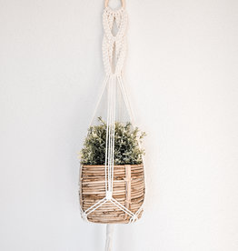 "BLUSH BOHO / Macramé hanging basket ""Delta"""
