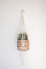 "Macramé hanging basket ""Gamma"" beige white"