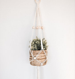 "BLUSH BOHO / Macramé hanging basket ""Alpha"""