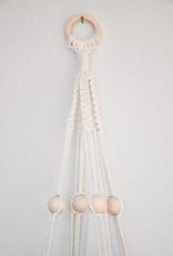 "Macramé hanging basket ""Alpha"" beige white"