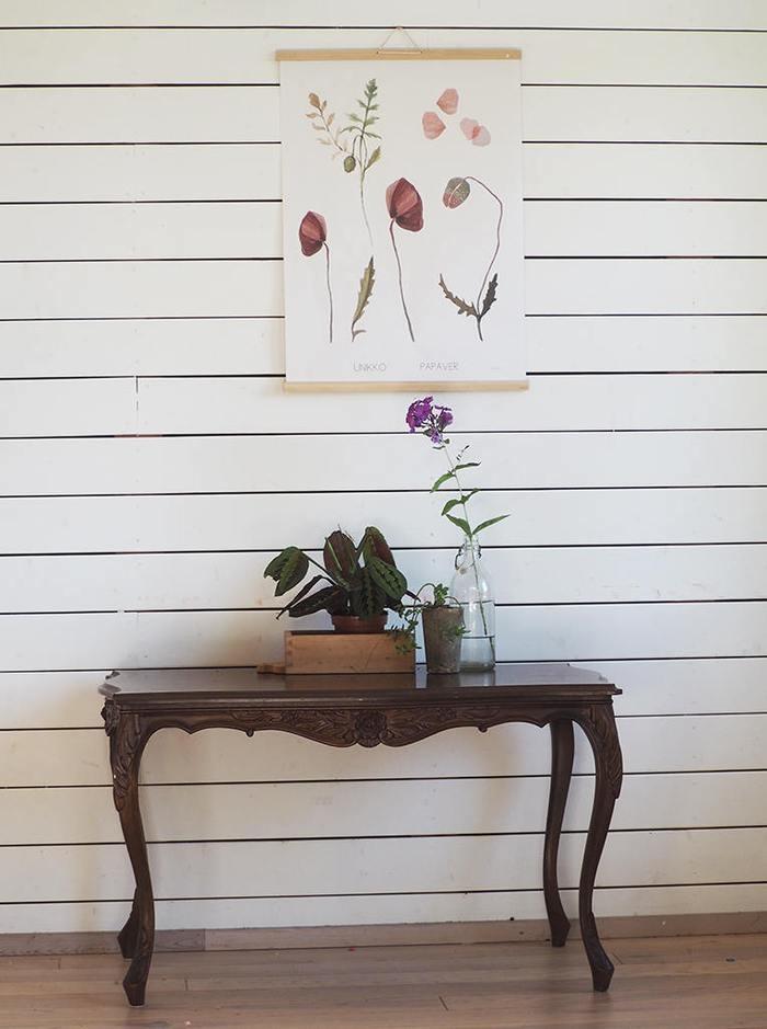 Blumenampel mit Makramee-Kunst