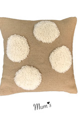 "Wool pillow case ""Natural Four"" 45x45 cm"