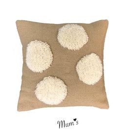 """MUM'S / Wool pillow case """"Natural Four"""" 45x45 cm"""
