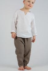 Kids Linen Trousers khaki