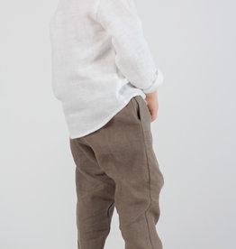 HULMU / Kinder Leinenhose khakifarben
