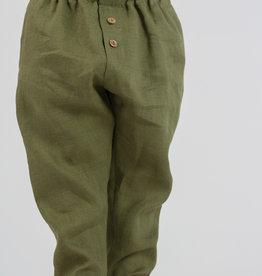 HULMU / Kids Linen Trousers olive-green