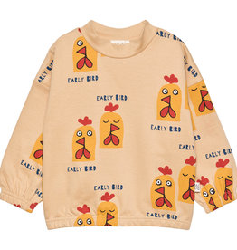 "MAINIO CLOTHING / Kinder Sweatshirt ""Early bird"" gelbfarben"