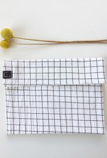 Snack bag with black/white check pattern