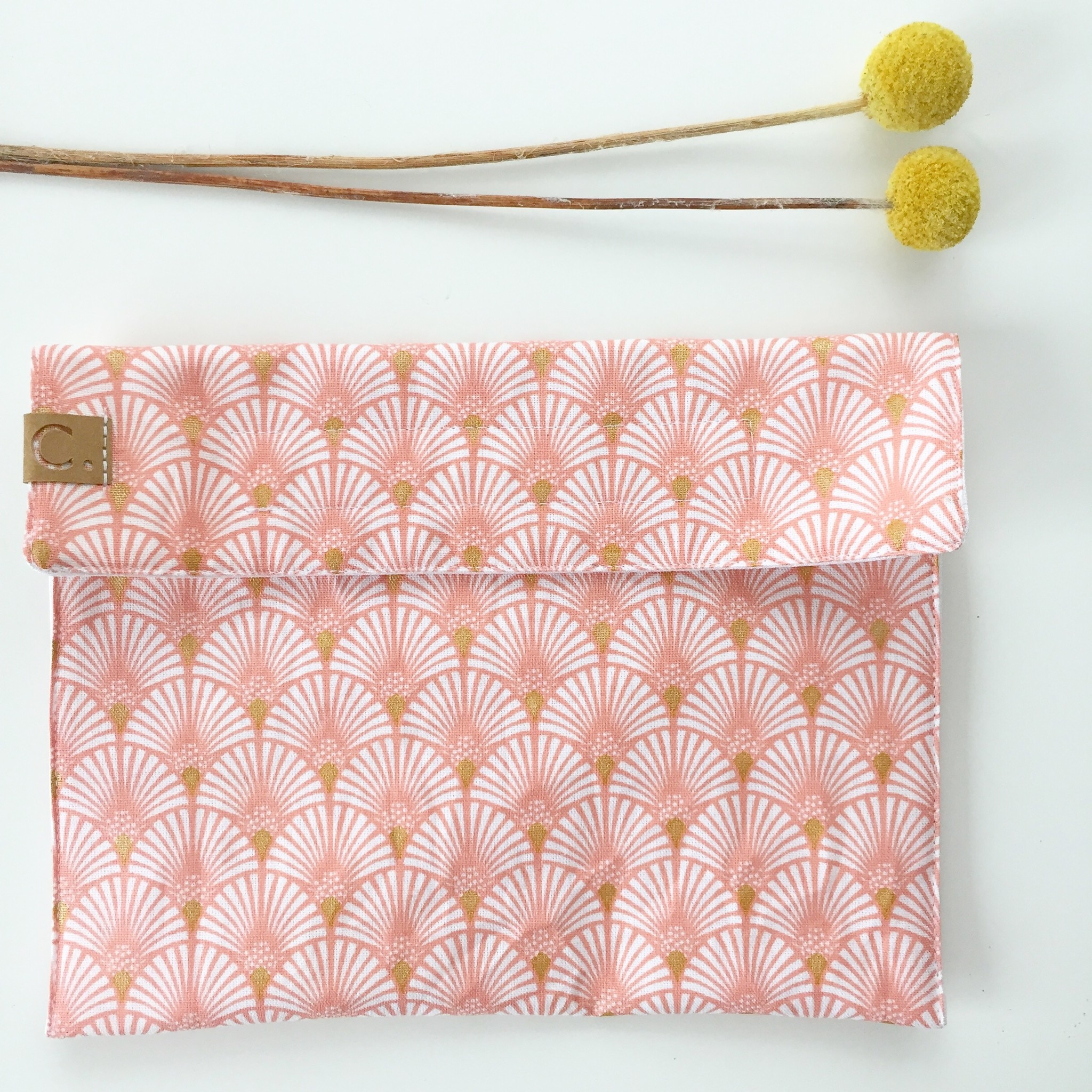 Cotton Snack Bag rose coloured