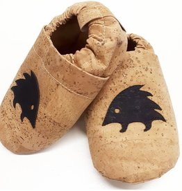 "HIPPA / Kids Slippers ""Hedgehog""  made of vegan corc fabric"