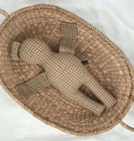 UMGENÄHT / Puppe braunfarben 40 cm
