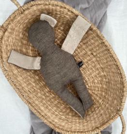 UMGENÄHT / Doll brown-cream coloured 40 cm