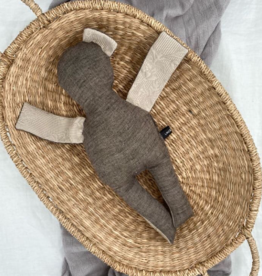 UMGENÄHT / Puppe braun-cremefarben 40 cm