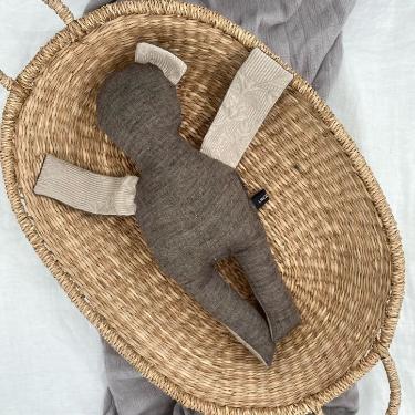 Puppe braun-cremefarben 40 cm