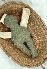 Doll green-white coloured 40 cm