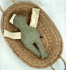 UMGENÄHT / Poupée vert-blanc 40 cm