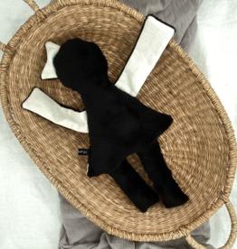 UMGENÄHT / Puppe schwarz-weiss 40 cm