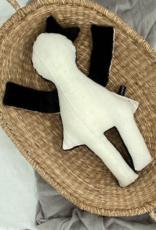 Puppe  schwarz-weiss 40 cm
