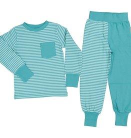 GEGGAMOJA / Kinder Pyjama weiss-mintfarben