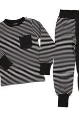 Kinder Zweiteiler Pyjama schwarz/weiss