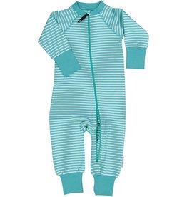 GEGGAMOJA / Kinder Pyjama-Overall weiss-mintfarben