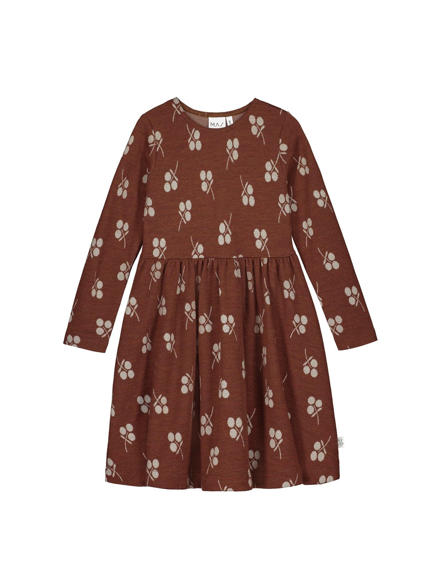 Merinowolle Kleid mit Jacquard-Muster