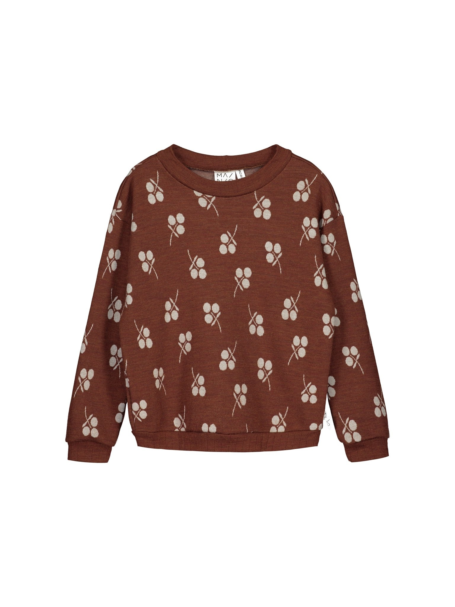 Merinowolle Pullover mit Jacquard-Muster