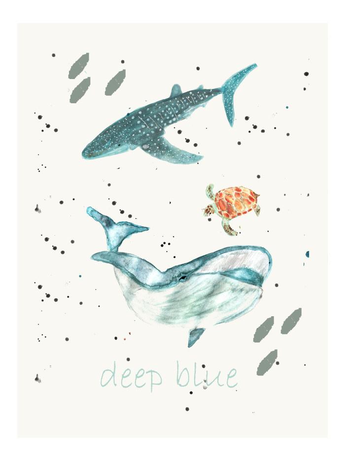 """Poster """"Deep blue"""""""