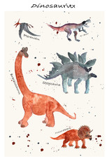 """Poster """"Dinosaurier"""""""