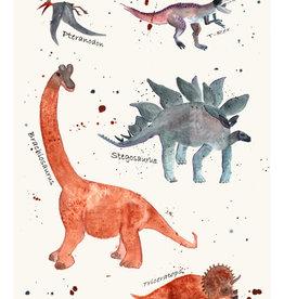 """MONTSCHITCHI/ Affiche """"Dinosaures"""""""