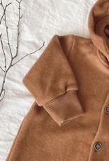 Baby Fleece Overall kupferfarben mit Knopfbefestigung