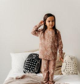 """AARRE / Kinder Pyjama """"Owl"""" kakaofarben"""