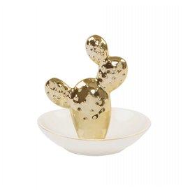 Juwelenschaaltje cactus goud