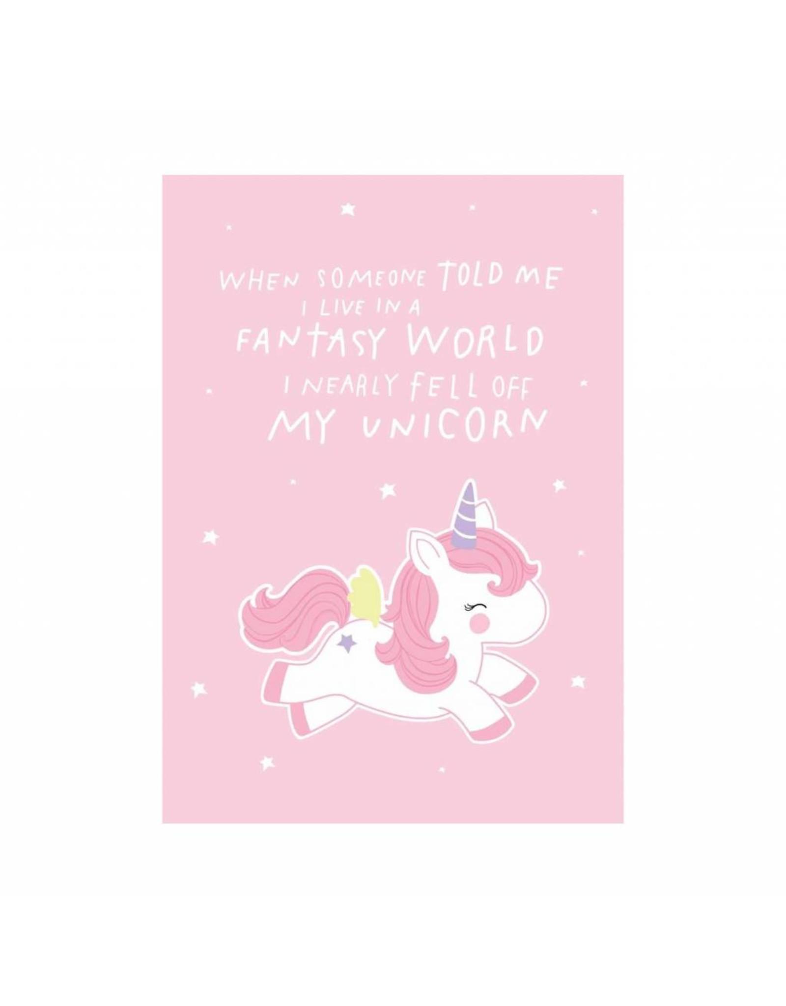 Postkaart Fantasy World eenhoorn