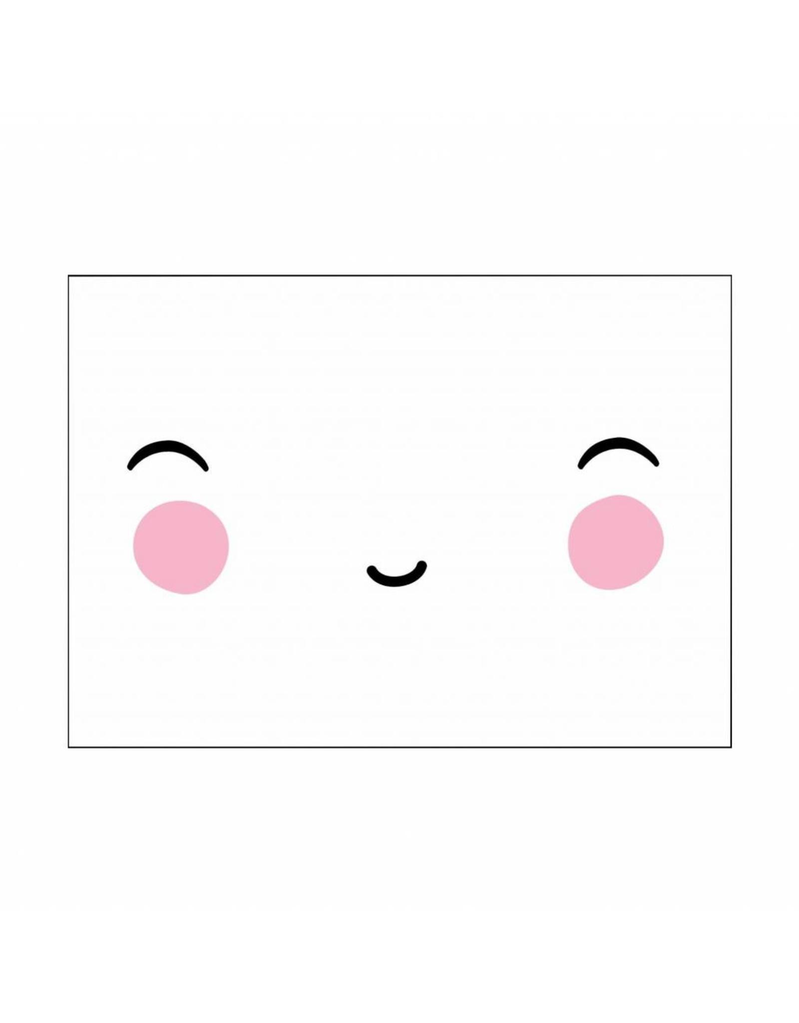 Postkaart happy face