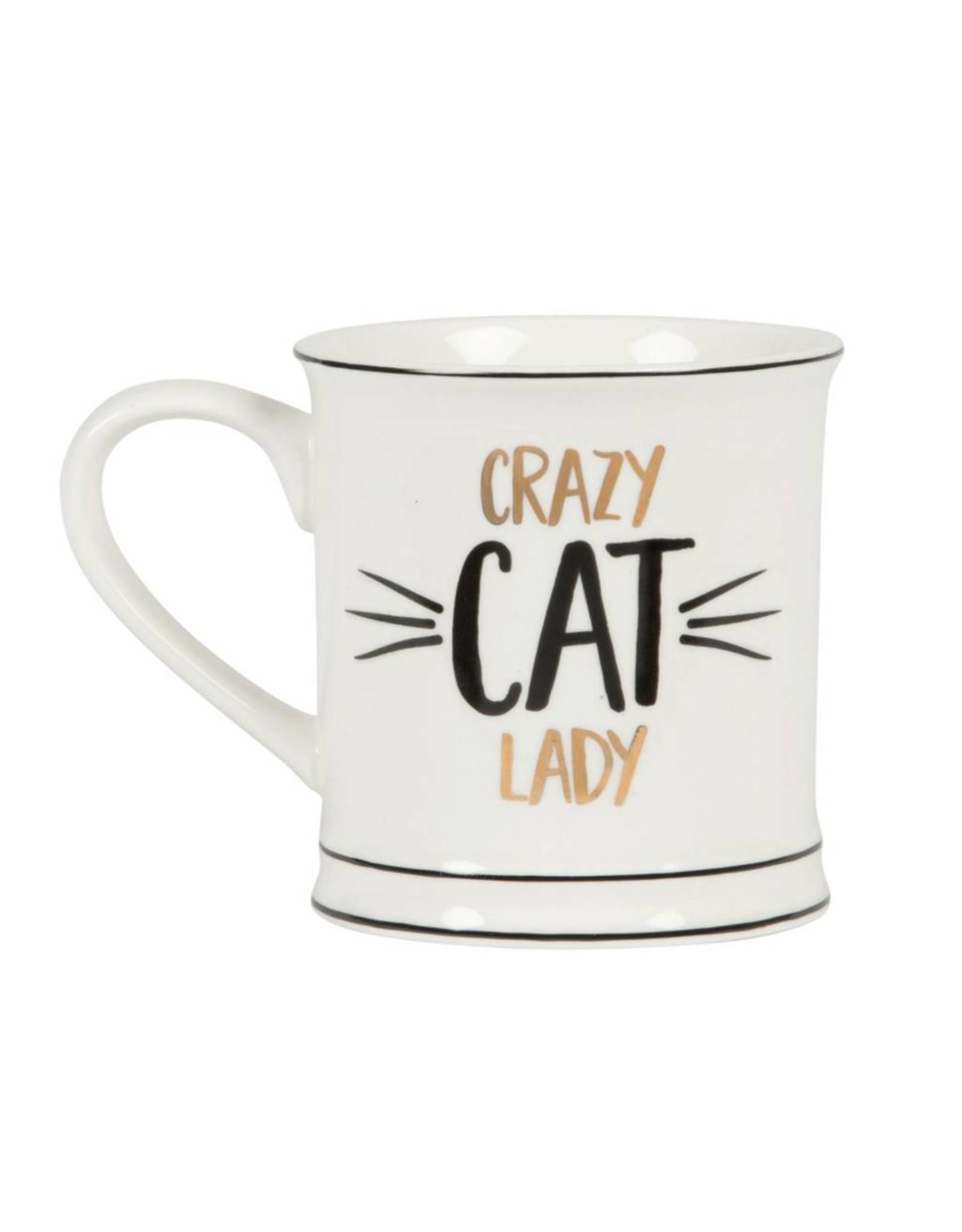 Tas goudfolie Crazy cat lady