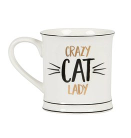 Tas goudfolie Crazy cat lady