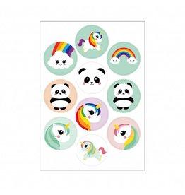 Stickers kawaii eenhoorn