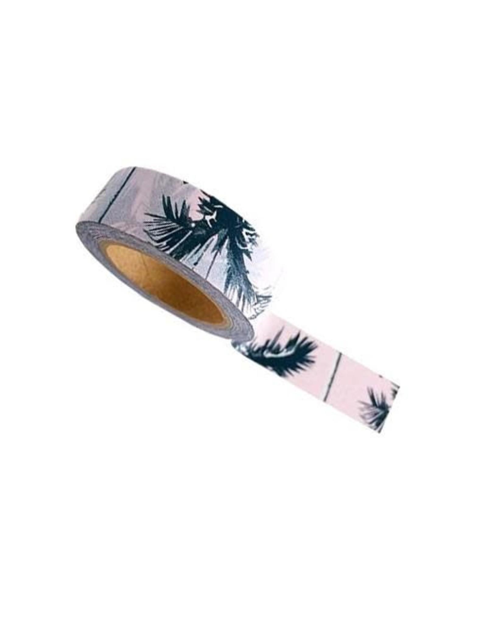 washi tape roze palmbomen