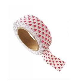washi tape wit / fuchsia triangle