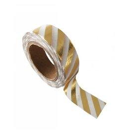 washi tape wit / goud stripes