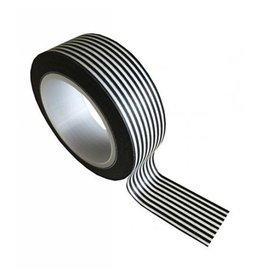 washi tape wit / zwart stripes horizontaal