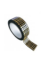 washi tape zwart / goud grid