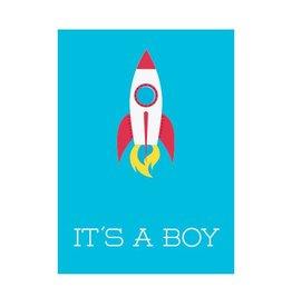 Postkaart It's a boy!