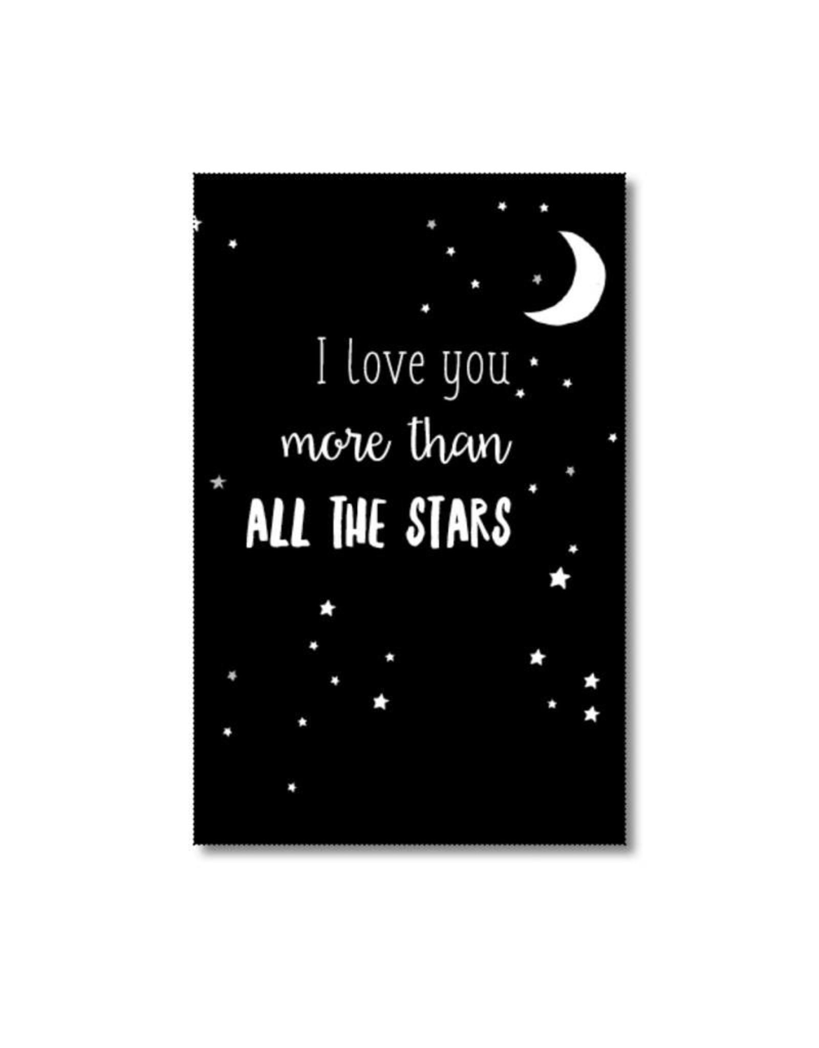 Mini kaartje I love you more than all the stars