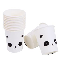 Papieren bekertjes panda