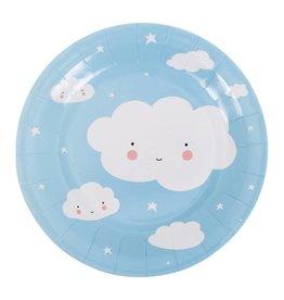 Papieren bordjes wolk