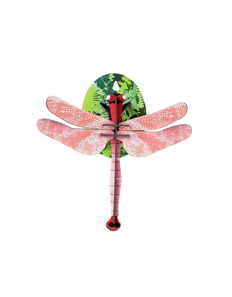 Libelle roze 3D